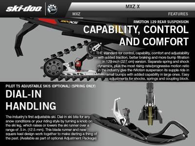 2017 Ski-Doo MXZ® X® 600 H O  E-TEC® Black Ice Ripper XT 1 25 REV-XS